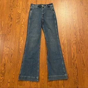 NEW J. Crew High Rise Wide Leg Trouser Jeans 27T